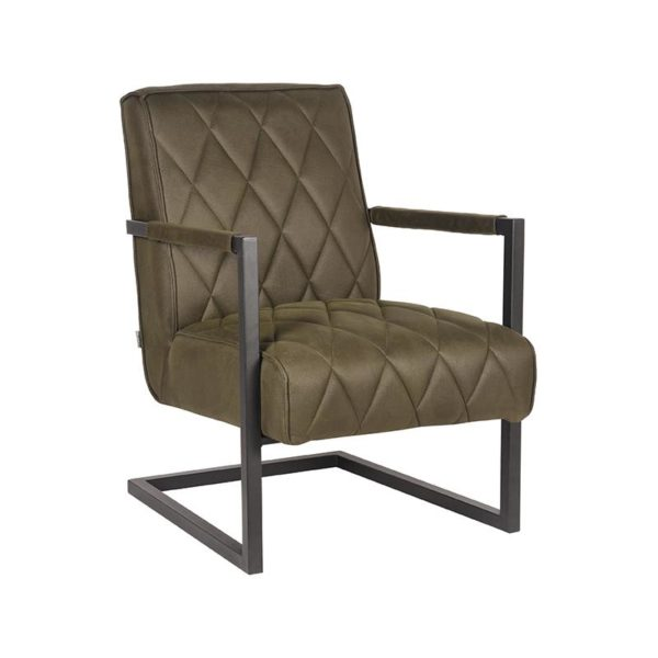 LABEL51 Fauteuil Denmark - Army green - Microfiber